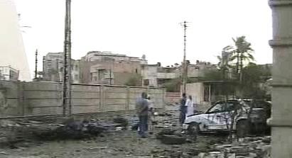Následky útoku na katedrálu v Bagdádu