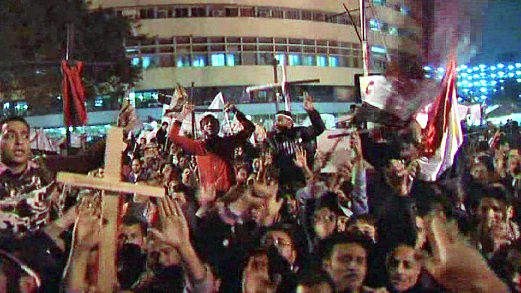 Demonstrace egyptských křesťanů