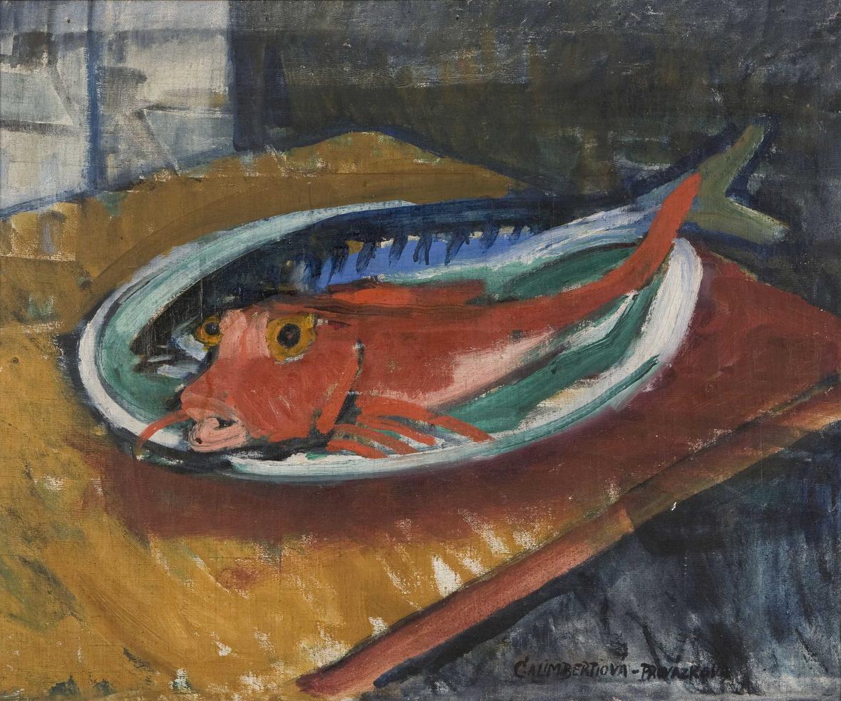 Marie Galimberti Provázková / Rouget a makrela (1910)