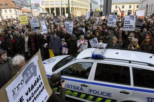 Demonstrace proti reformám