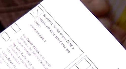 Vyplněný volební lístek