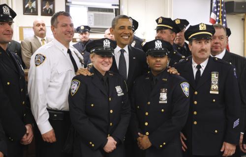 Obama se sešel s newyorskými hasiči