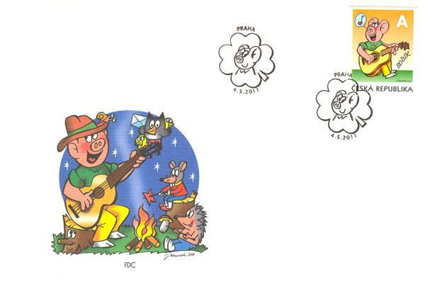 Obálka k prvnímu dni vydání známky s Bobíkem