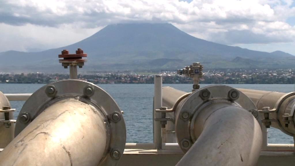 Těžba plynu na jezeře Kivu