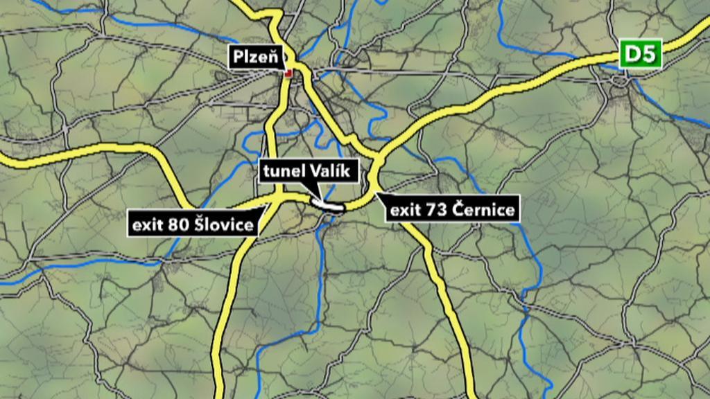Mapa místa nehody
