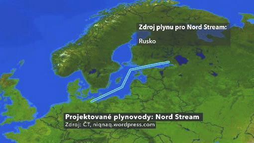 Projektovaný plynovod Nord Stream