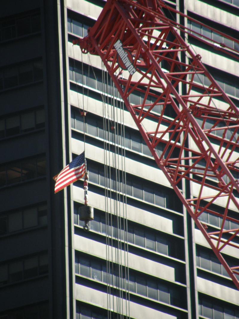 Vlajka na Ground Zero