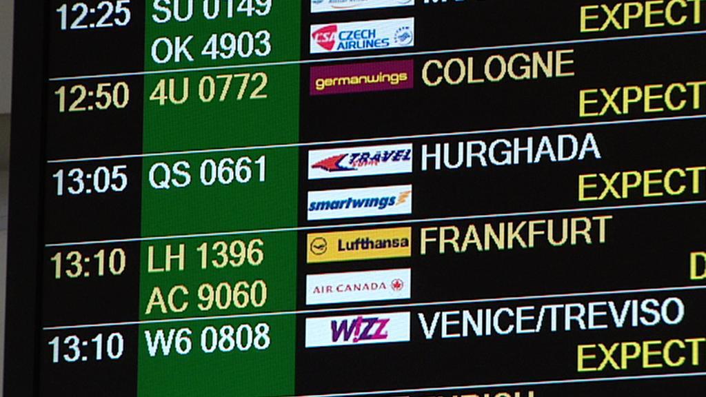 Plán příletů na ruzyňském letišti