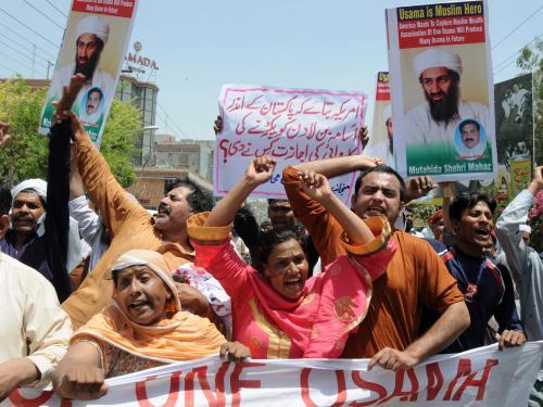 Pákistánští demonstranti odsuzují zabití bin Ládina