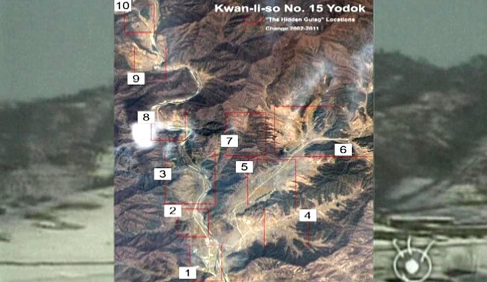 Satelitní snímky severokorejských pracovních táborů