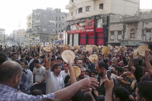 demonstrace proti syrskému prezidentovi