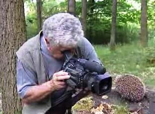 Václav Chaloupek při natáčení