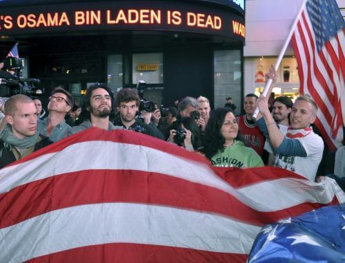 Američané slaví smrt bin Ládina
