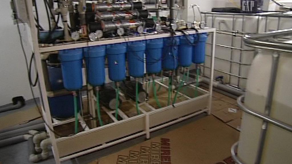 Zařízení čističky vody