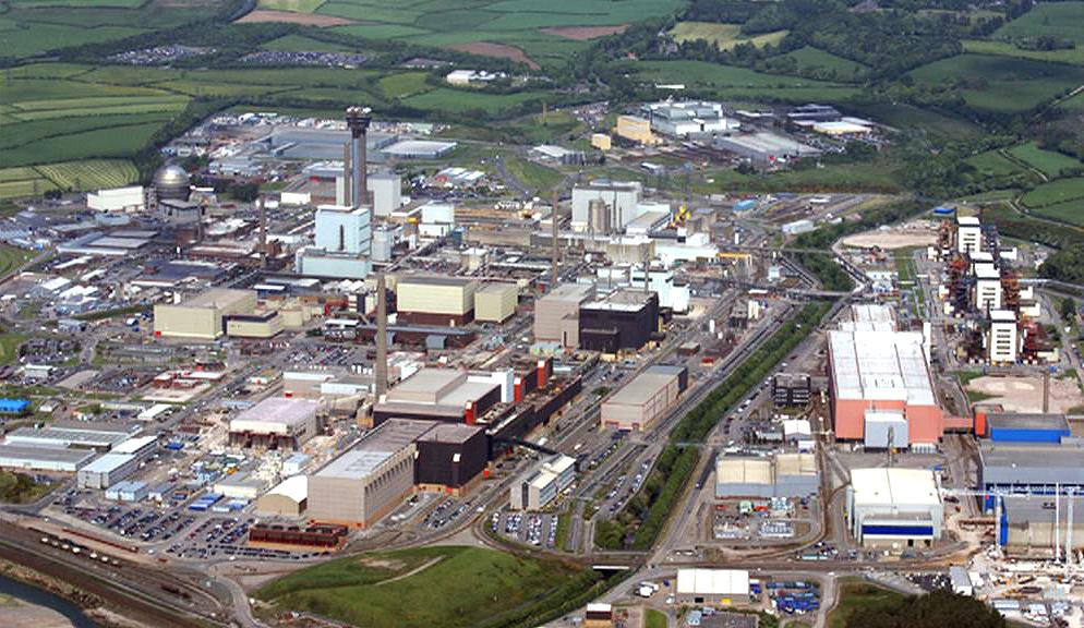 Jaderný komplex v Sellafieldu