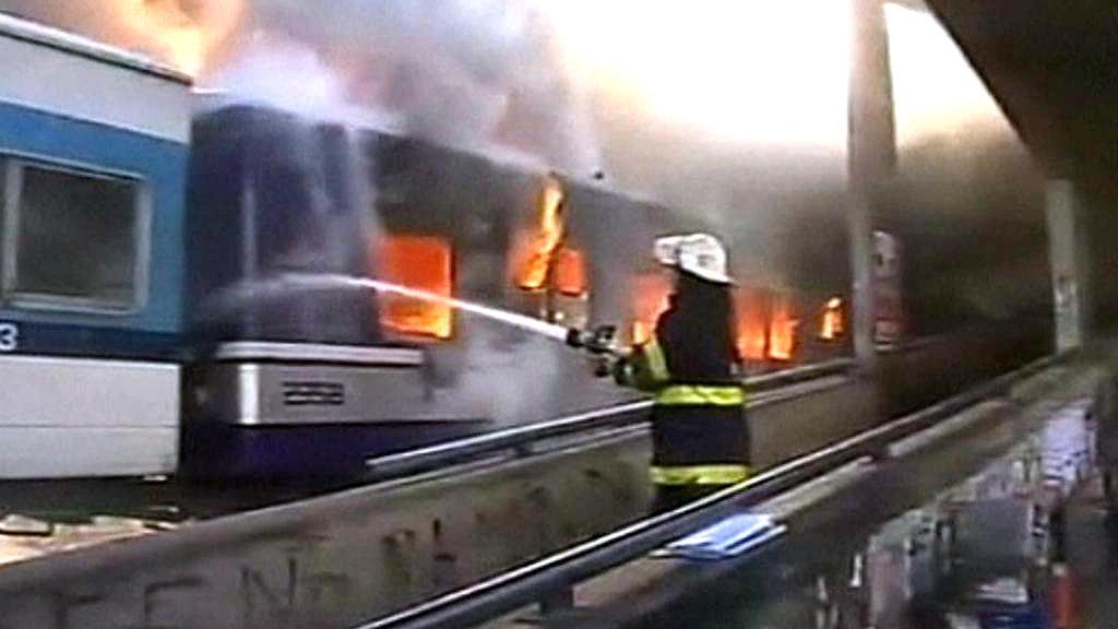 Požár vlaku