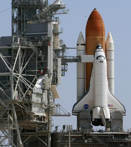 Raketoplán Endeavour před startem