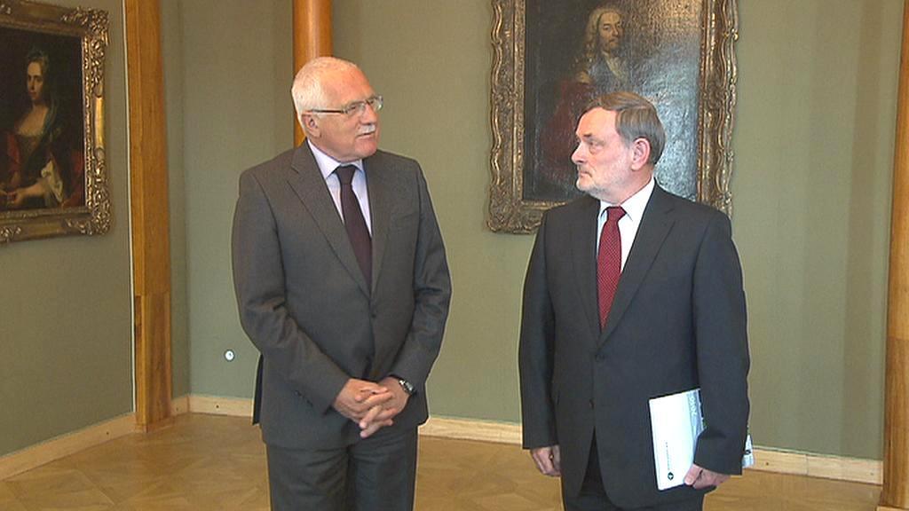 Václav Klaus a Pavel Varvařovský
