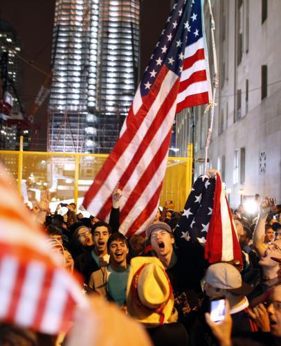 Amerika slaví smrt Usámy bin Ládina