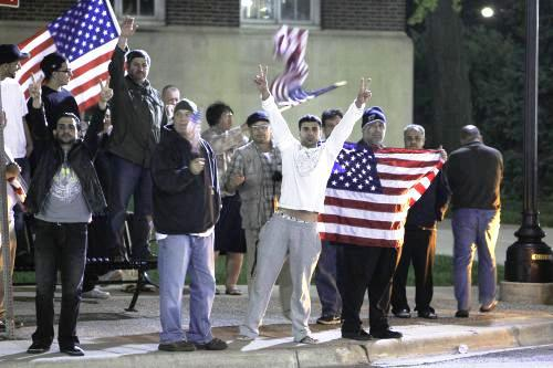 Oslava smrti bin Ládina