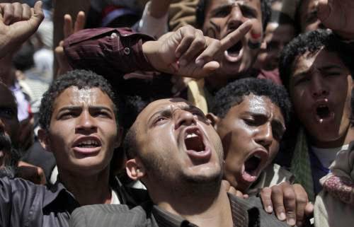 Jemenští demonstranti