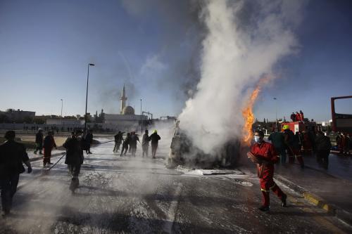 Výbuch v Tripolisu