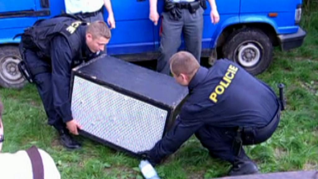 Zásah policie v Kounicích