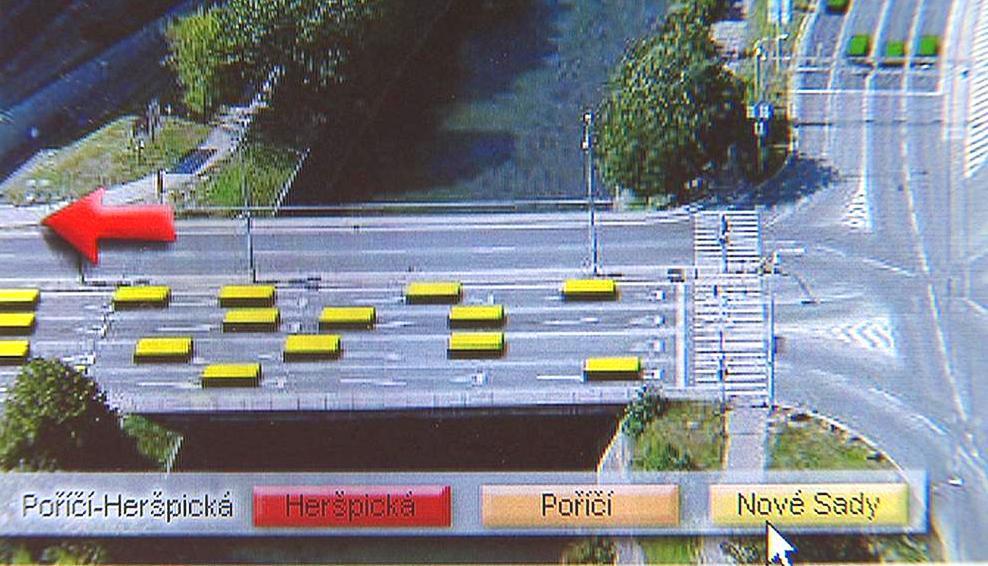 Animace zobrazující dopravní situaci