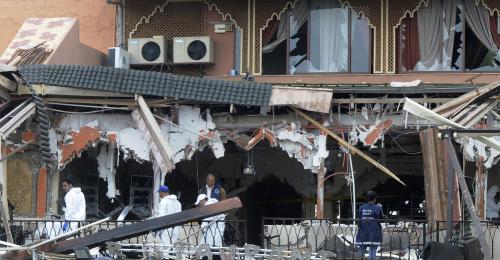 Výbuch v kavárně v centru Marakéše