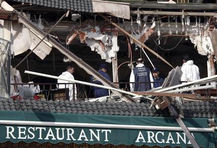 Následky výbuchu v centru Marakéše