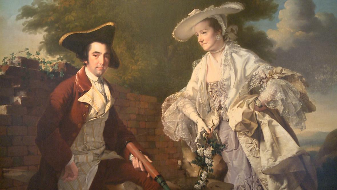 Joseph Wright of Derby / Perez Burdett a jeho žena Hannah