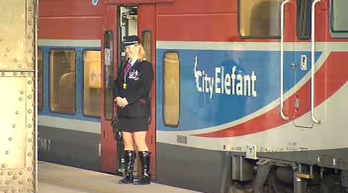 Personál a vlak ČD