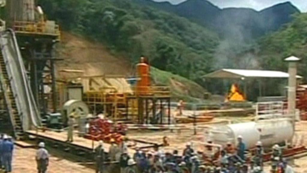 Těžba zemního plynu v Bolívii