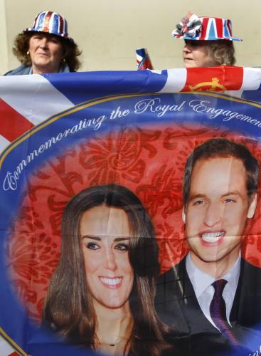 Fanoušci britského královského páru