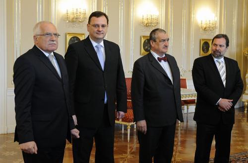 Prezident a šéfové koaličních stran