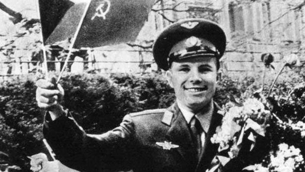 Jurij Gagarin v Praze 28. dubna 1961