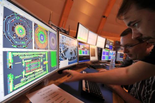 Řídicí centrum urychlovače částic