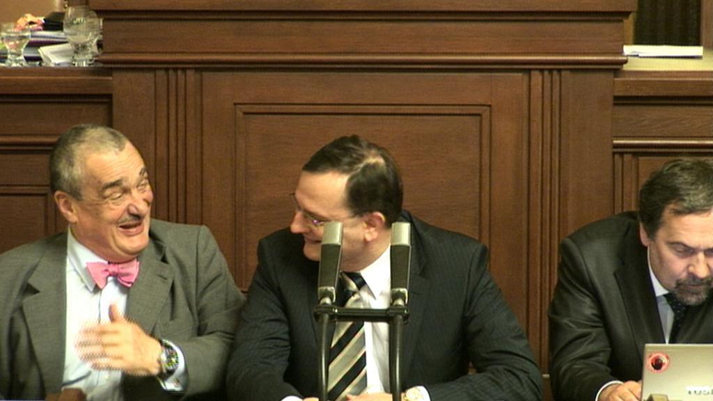 Karel Schwarzenberg a Petr Nečas