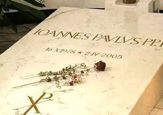 Hrob papeže Jana Pavla II.