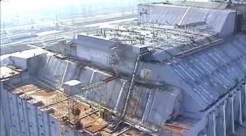 Sarkofág elektrárny v Černobylu