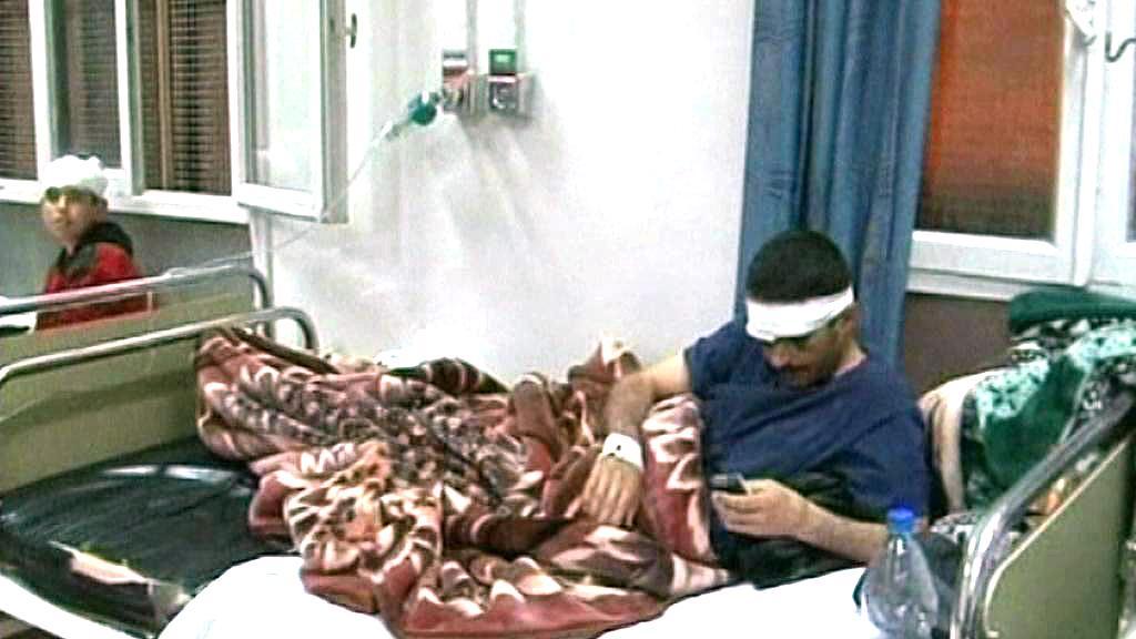 Zraněný po protestech v Sýrii