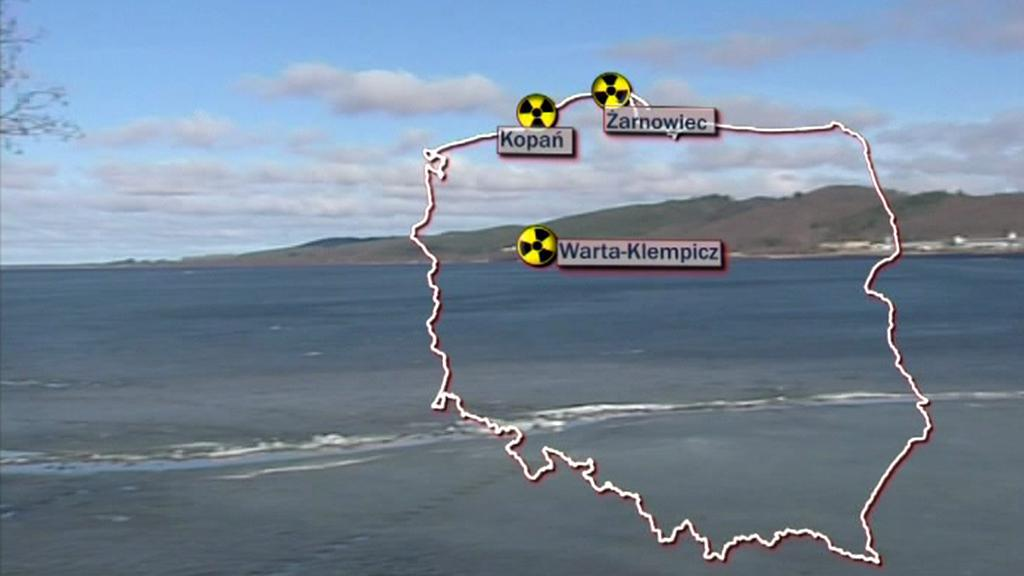 Možné lokality polské jaderné elektrárny