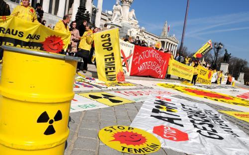 Protest rakouských aktivistů