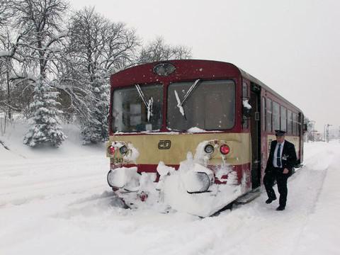 Železnice v zimě