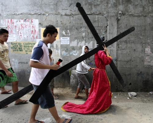 Oslavy Velkého pátku na Filipínách