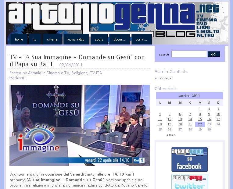Rozhovor s Benediktem XVI. na Rai Uno