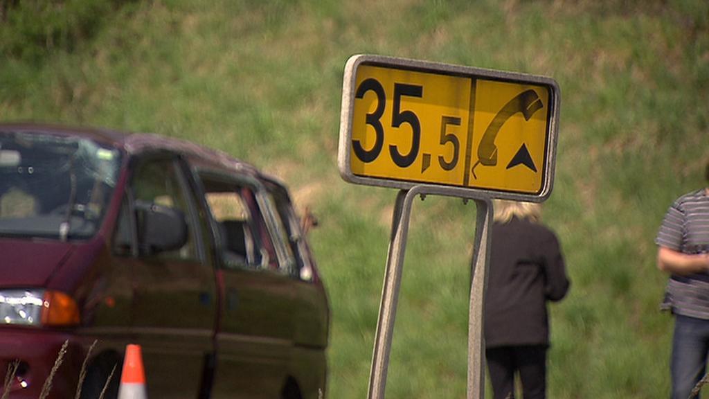 Nehoda dodávky na dálnici