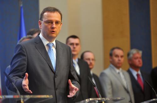 Petr Nečas a členové NERVu