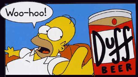 Homer Simpson a pivo Duff