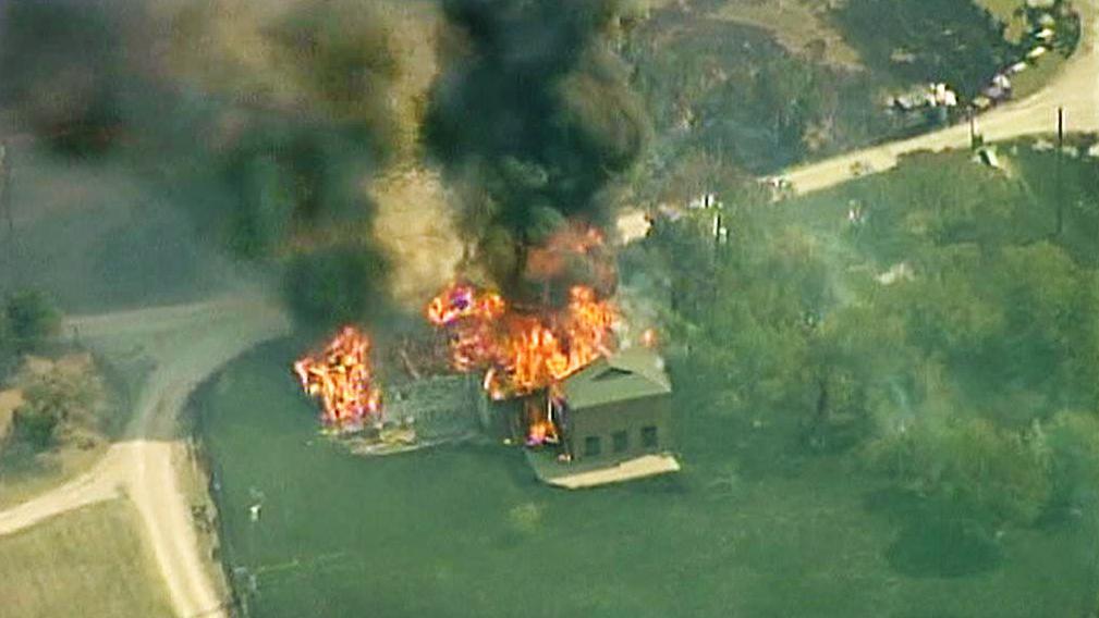Požáry v Texasu